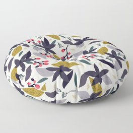 Spring blossom - dark flowers and pink buds Floor Pillow