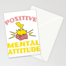 """Stay optimist with this cool and awesome """"Positive Mental Attitude"""" tee design. Makes a unique gift! Stationery Cards"""