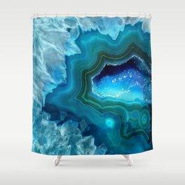 Teal Blue Agate II Shower Curtain