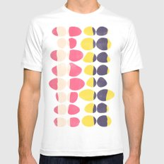 Painted Pebbles 3 White Mens Fitted Tee MEDIUM