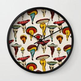 Sexy mushrooms Wall Clock