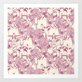 just goats cherry pearl Art Print