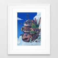 studio ghibli Framed Art Prints featuring studio ghibli by KEL H