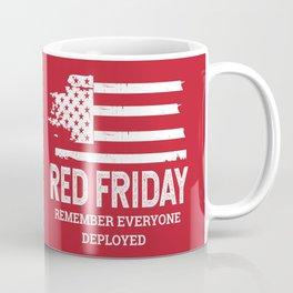 Red Friday RED American Flag Military Coffee Mug