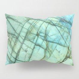 Teal Labradorite Gemstone print Pillow Sham