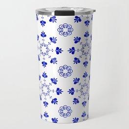blue morrocan dream no2 Travel Mug