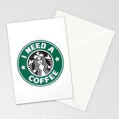 I need a coffee! Stationery Cards