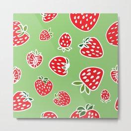 Greenie Strawberries Metal Print