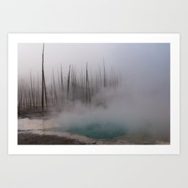 Steamy Hot Spring in Yellowstone Art Print