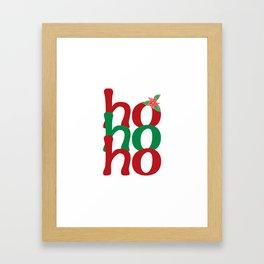 hohoho Framed Art Print