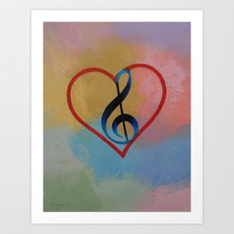 Music Note Art Print