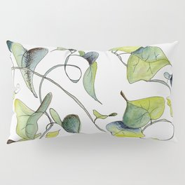 Blue and Green Vines, Pattern Pillow Sham