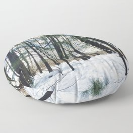 Winter Woods1 Floor Pillow