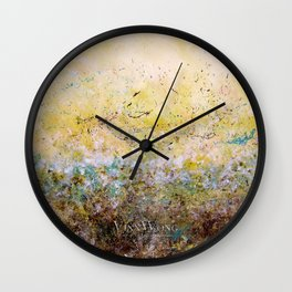 Abstract Art - First Bloom Wall Clock