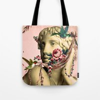 swag Tote Bags featuring SWAG by Julia Lillard Art