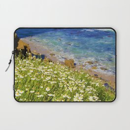 California Seaside in Bloom by Reay of Light Laptop Sleeve