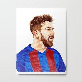 Messi - Barcelona Metal Print
