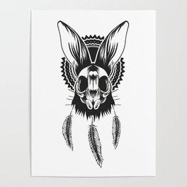 Bunny Skull Poster