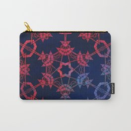 Blue and red glow tribal mandala Carry-All Pouch
