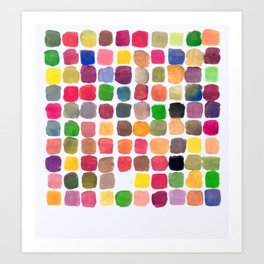 100 Colors Art Print