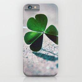Green Clover Shadow iPhone Case