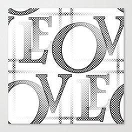 Jumbled Love Canvas Print
