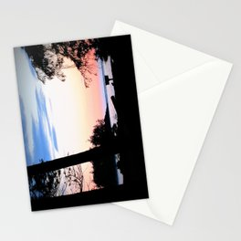 Pink Skies at Night - Deception Pass State Park, Whidbey Island, WA Stationery Cards