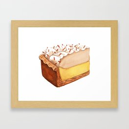 Coconut Cream Pie Slice Framed Art Print