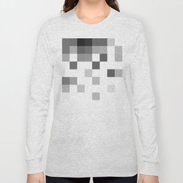 Gray Scale In Pixels Long Sleeve T-shirt