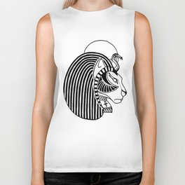 Tefnut Egyptian Goddess Biker Tank