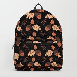I love acorns - Black Backpack