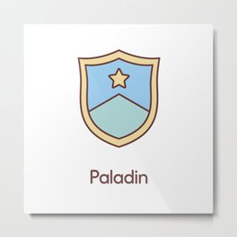 Cute Dungeons and Dragons Paladin class Metal Print