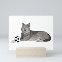 Soccer Wolf Mini Art Print