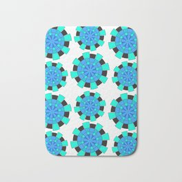 abstract green and blue cloves Bath Mat
