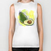 avocado Biker Tanks featuring Vietnam Avocado by Vietnam T-shirt Project