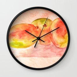 Mango Watercolor Wall Clock