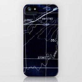 Cyanotype Map iPhone Case