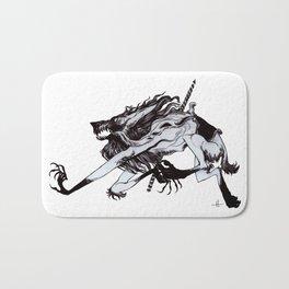 Werewolf Carousel Bath Mat