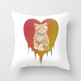 Cat in your heart Throw Pillow