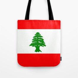 Flag of Lebanon Tote Bag