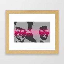 Pop Faces Framed Art Print