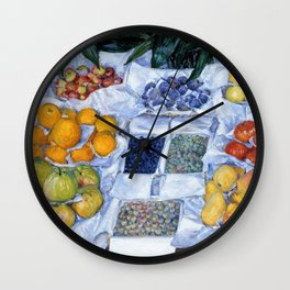 Gustave Caillebotte - Fruit Displayed On A Stand - Digital Remastered Edition Wall Clock