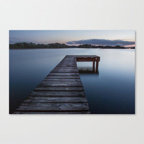 dock of dreams Canvas Print