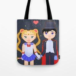 Pixelated Sailor Moon Tote Bag