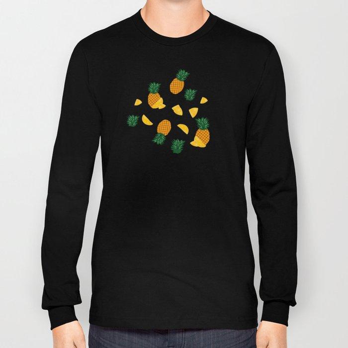 Pineapple Pattern Long Sleeve T-shirt
