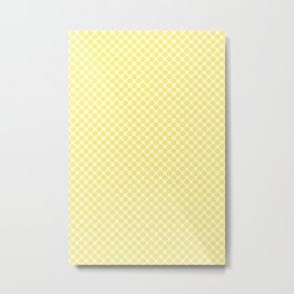 Yellow Lemon Fruit Slices Pattern Metal Print