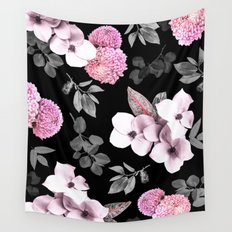 Night bloom - pink blush Wall Tapestry