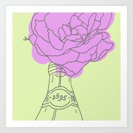 Rose and lemonade Art Print