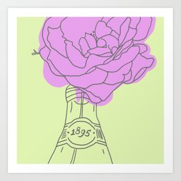 Rose and lemonade Art Print
