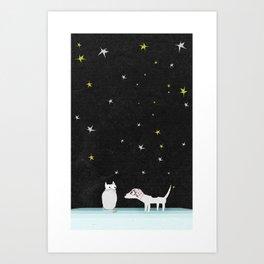 Schtick Night Art Print